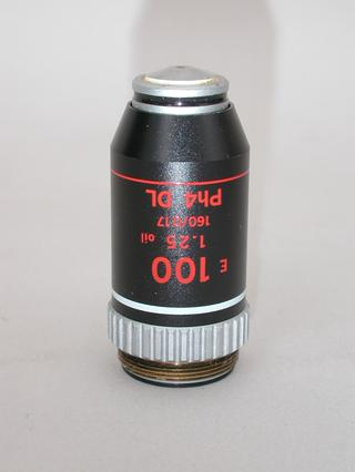 Nikon E 100x Phase Contrast Dark Low Microscope Objective