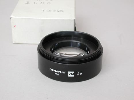 Olympus VM 2x Auxiliary. Microscope Objective Boxed