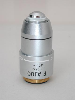 Olympus E A 100x Microscope Objective